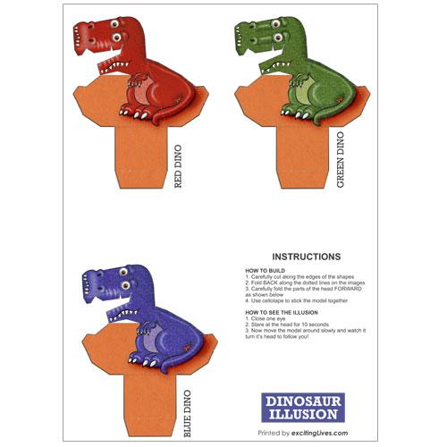 Dinosaur Optical Illusion Kit