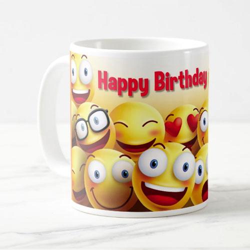 Happy Birthday Smiley Mug