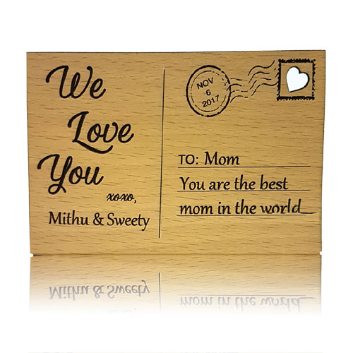 Personalised Wooden Postcard Stand