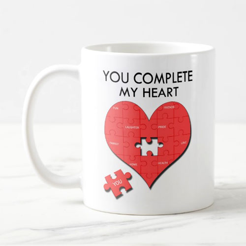 You Complete My Heart Mug