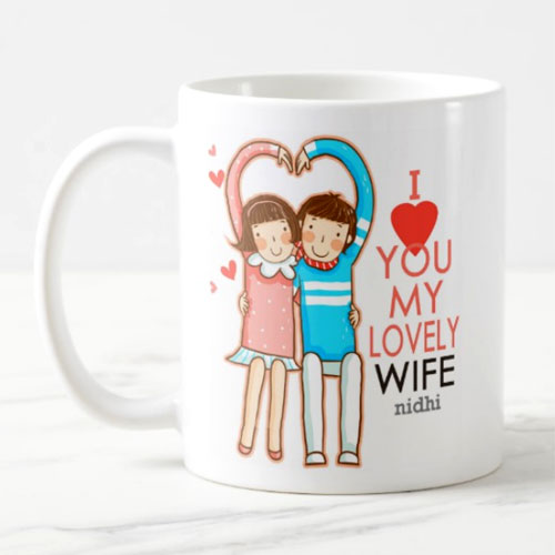 Lovely Wife Personalised Mug
