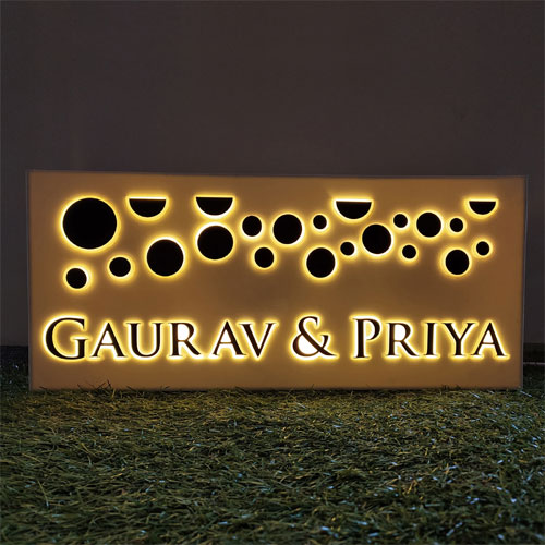 Planets Of Gold Personalised Name Plate