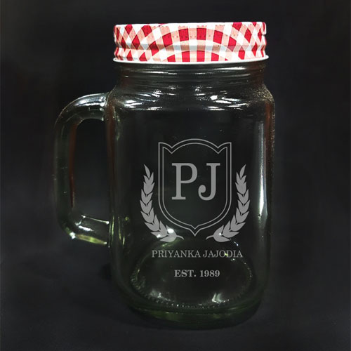 Personalised Glass Mason Jar