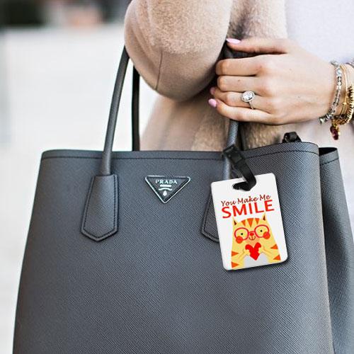You Make Me Smile Bag Tag