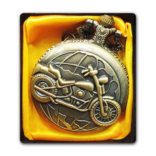 Vintage Motorcycle Pocket Watch
