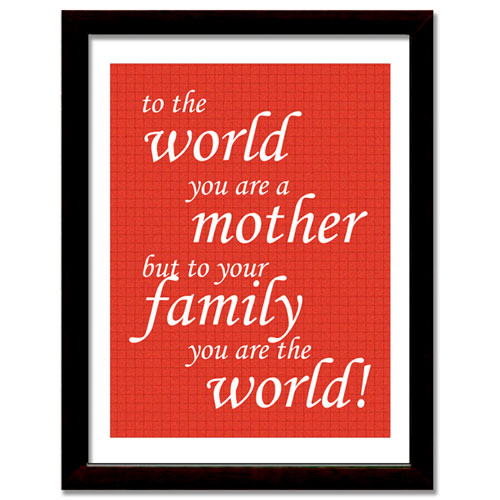 Mother Is The World Framed Print