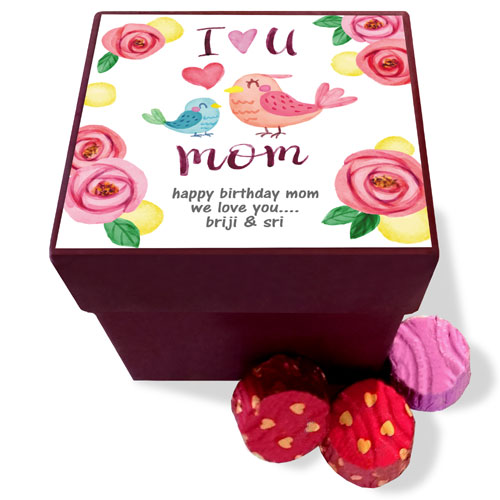 Love You Mom Personalised Chocolate Box