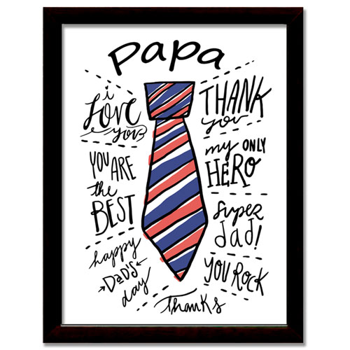 My Papa Framed Print