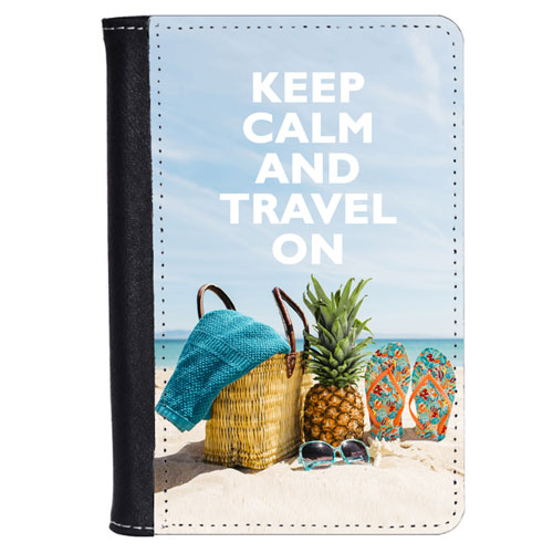 Stay Calm Travel On Passport Cover