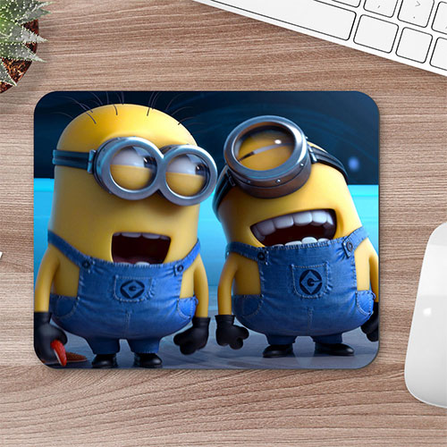 Laughing Minions Mouse Pad