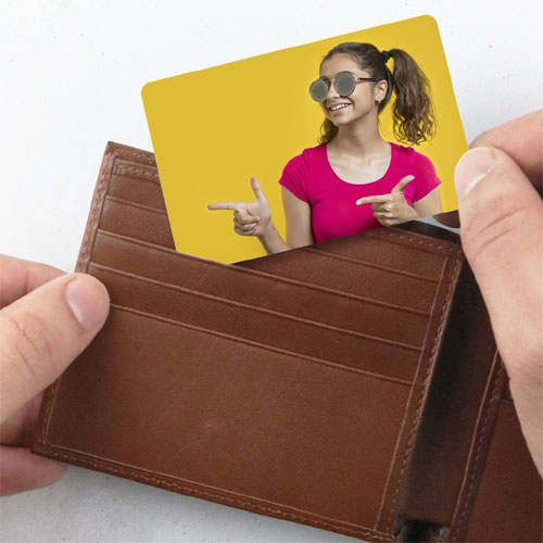 Personalised Metal Wallet Card
