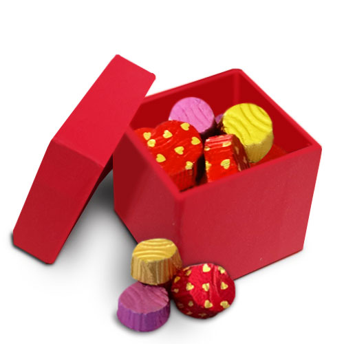 Personalised Red Diwali Chocolates Box