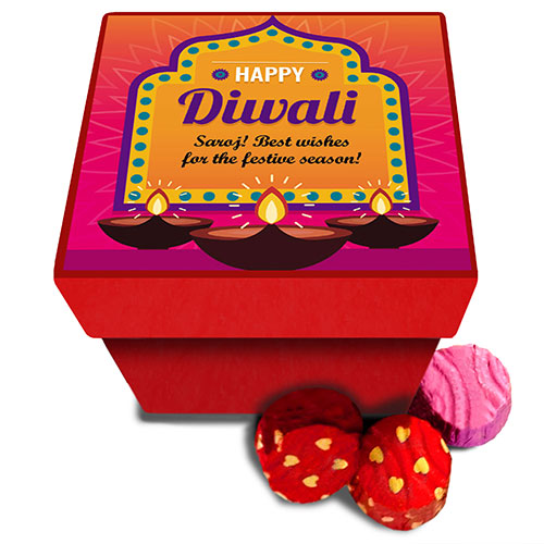 Diwali Diyas Personalised Chocolates Box