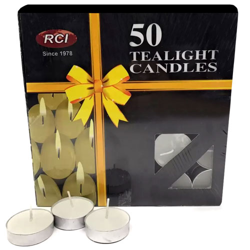 Tealight Candles 50 Pieces Gift Set