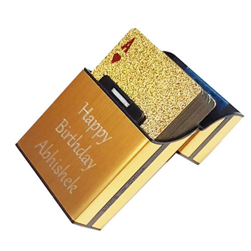 Personalised Gold Playing Cards Deck
