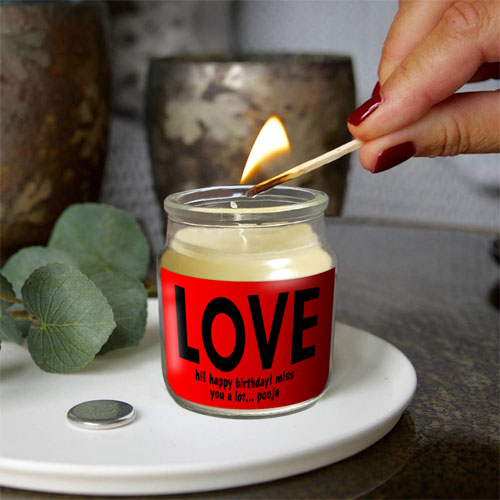 Love Personalised Candle