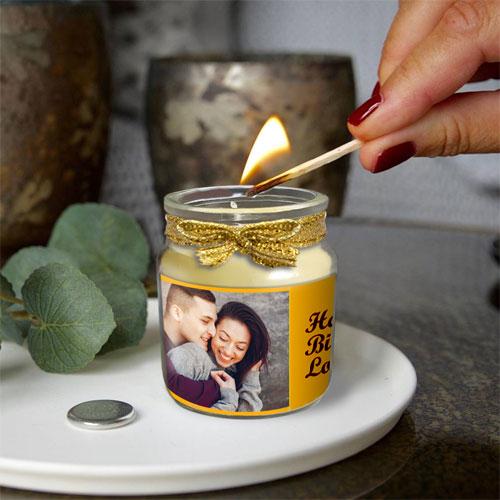 Photo Personalised Candle