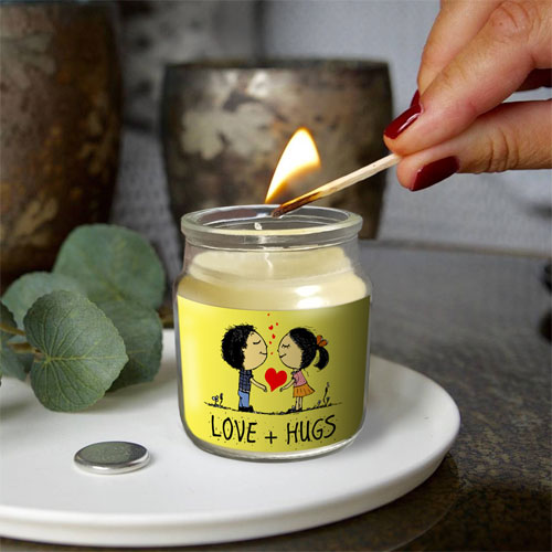 Love And Hugs Candle