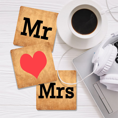 Mr And Mrs Coasters Set Of Three