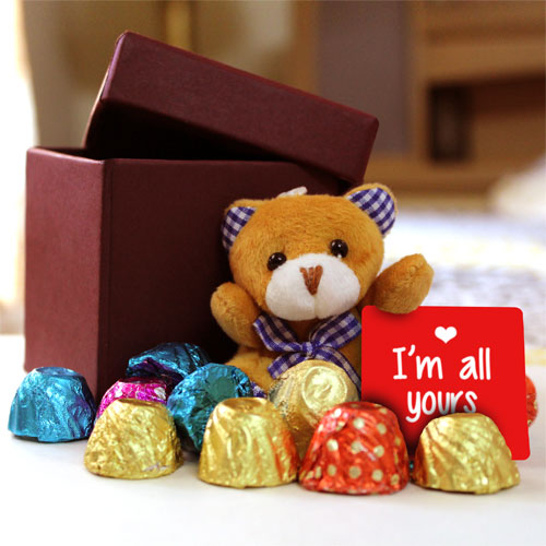 Chocolates And Teddy Box