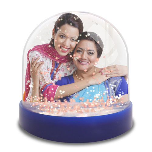 Mini Photo Snow Globe For Mom