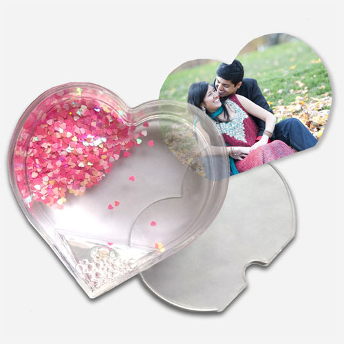 Floating Hearts Personalised Glass Frame