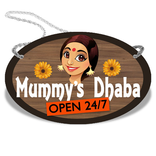 Mummys Dhaba Wooden Plaque