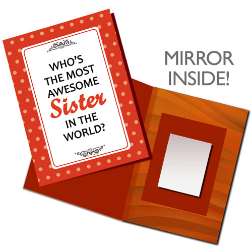 Most Awesome Sister Mirror Card