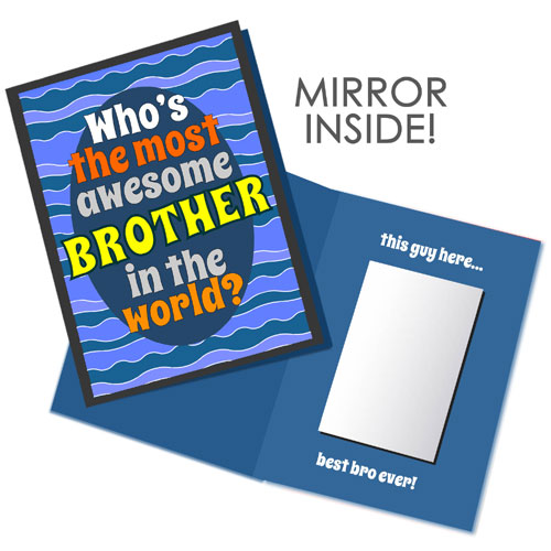 Most Awesome Brother Mirror Card