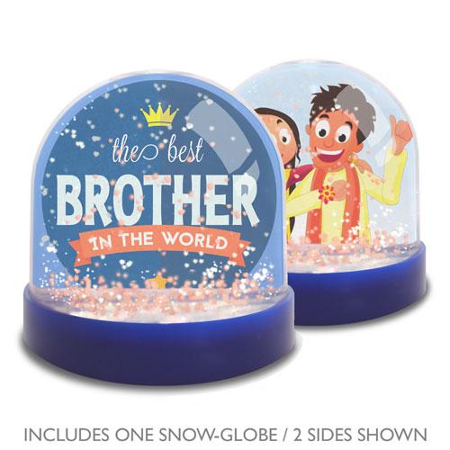 Brother Mini Snow Globe Photo Frame