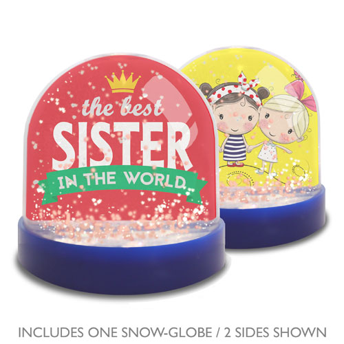 Sister Mini Snow Globe Photo Frame