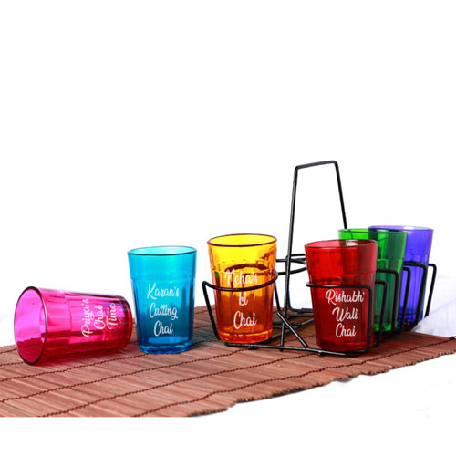 Cutting Chai Personalised Glasses Set