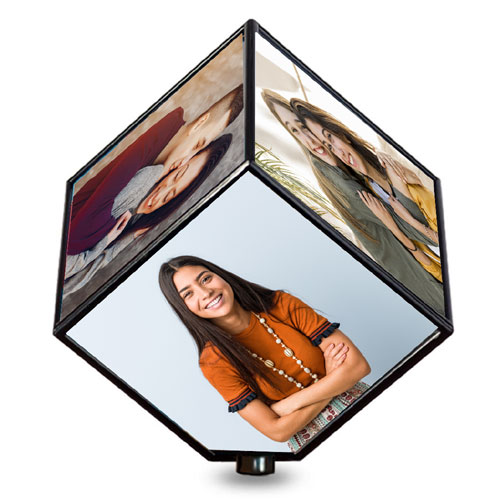 Rotating Cube Personalised Photo Frame