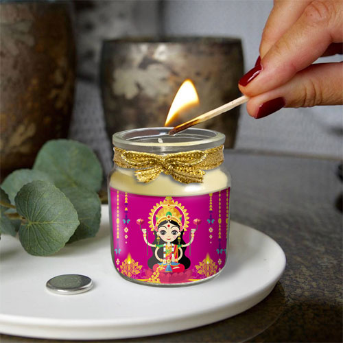 Laxmi Goddess Candle