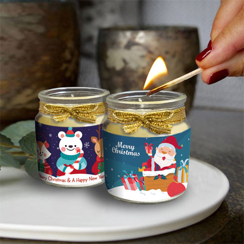 Christmas Mini Candles Set