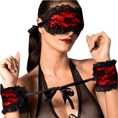 Exotic Blindfold And Handcuffs Set