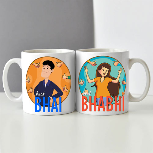 Bhai Bhabhi Mugs Set Of Two