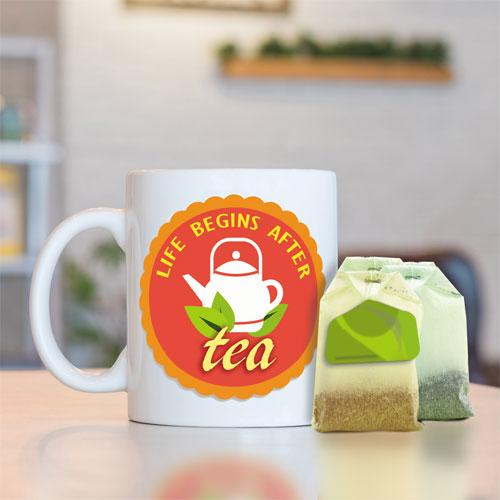 Tea Lovers Mug With Tea Bags Set