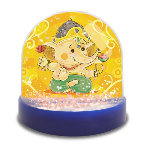 Snow Globe With Laxmi Ganesha