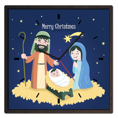 Christmas Nativity Theme Clock