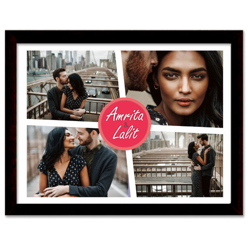 Couples Personalised Glass Frame