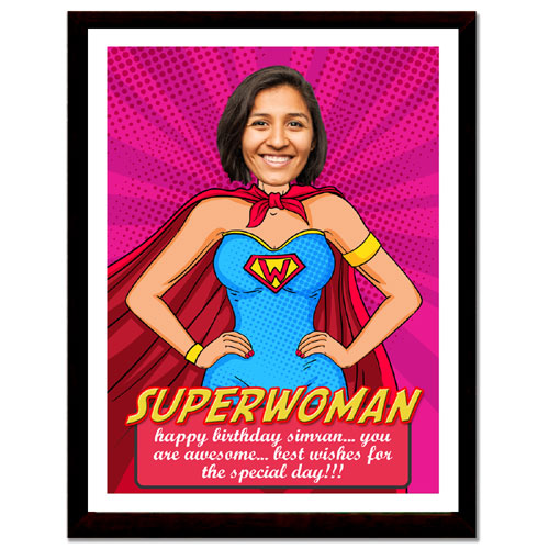 Super Woman Personalised Framed Print