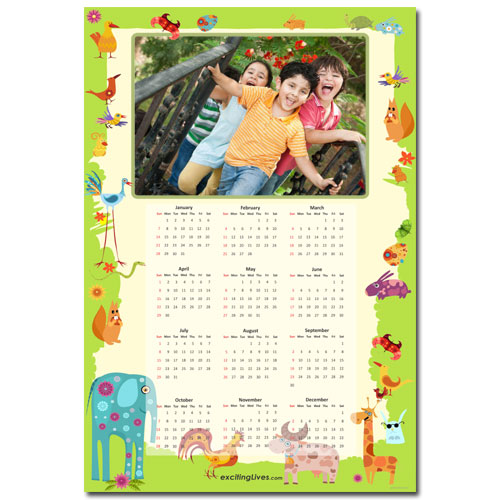 Animal Kingdom Calendar
