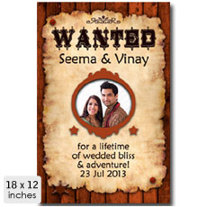 Wanted Personalised Poster