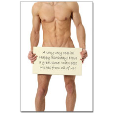 Naked Man Personalised Poster
