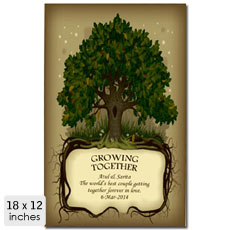 Growing Together Personalised Poster