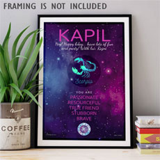Personalised Sun Sign Poster