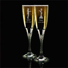 Couple Personalised Champagne Flutes