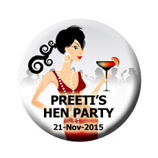 Hen Party Badges Set Of 10