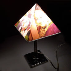Pyramid Personalised Lamp